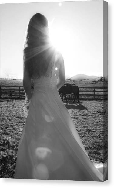 Wedding Gown Canvas Print - Dress 30 by Betsy Knapp