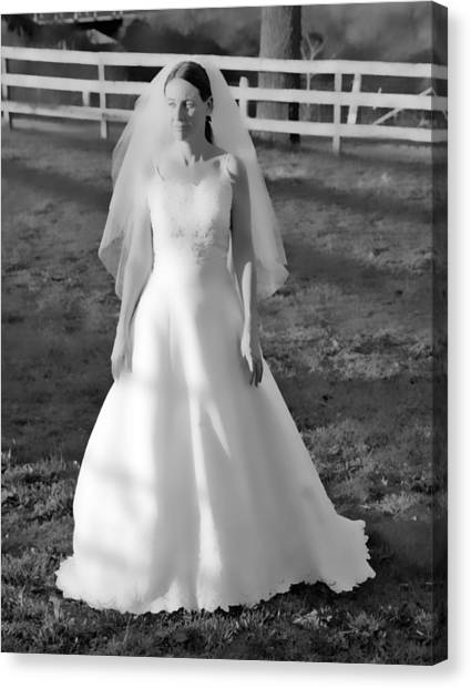 Wedding Gown Canvas Print - Dress 35 by Betsy Knapp