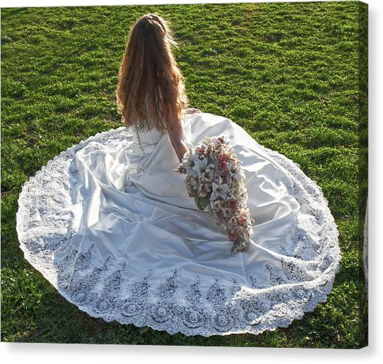 Wedding Gown Canvas Print - Dress 39 by Betsy Knapp
