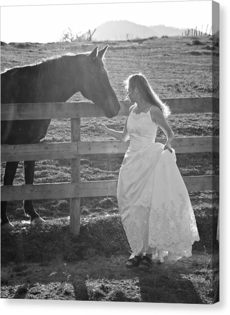 Wedding Gown Canvas Print - Dress 40 by Betsy Knapp