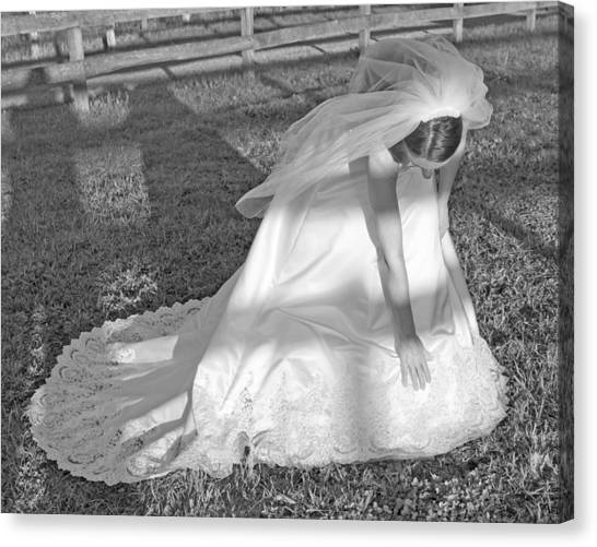 Wedding Gown Canvas Print - Dress 41 by Betsy Knapp