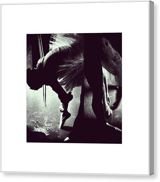 Ballet Canvas Print - drifting Through A World That's Torn by Miguel Angel Camero