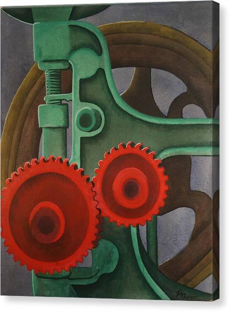 Drill Gears Canvas Print