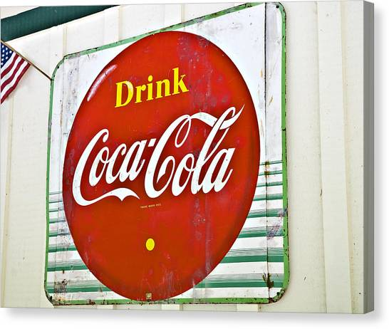 Drink Coca Cola Canvas Print