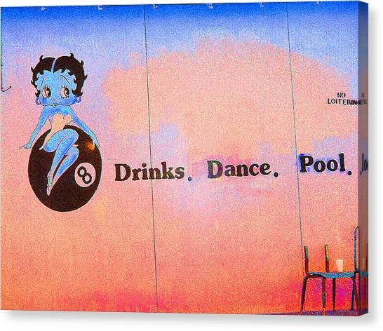 Drink Dance Pool Canvas Print
