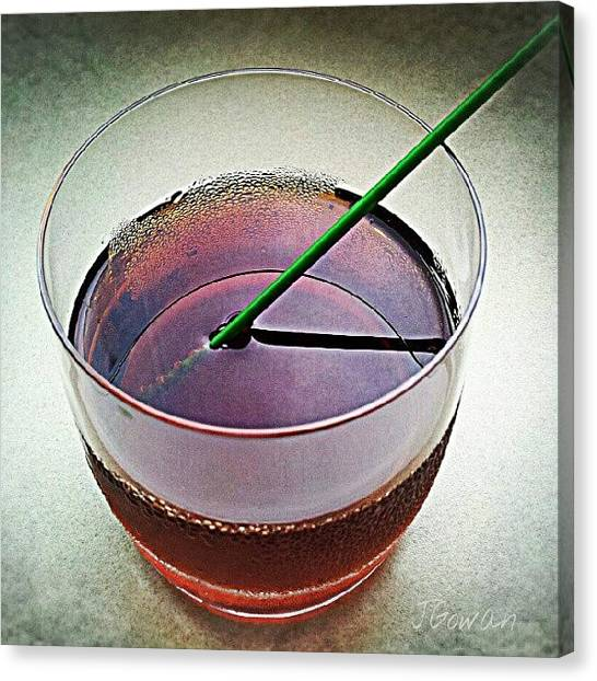 Wet Canvas Print - Drink. #drinking #drink #cola #cokezero by Jess Gowan