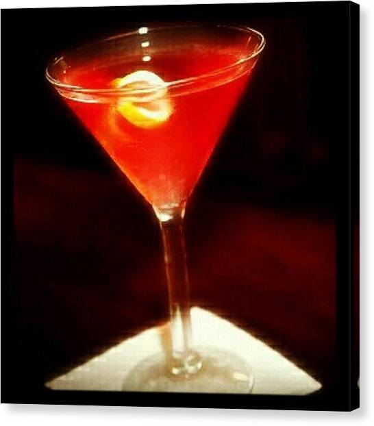 Martini Canvas Print - Drink Of The Day...a Martini Of Sorts by Mary Carter
