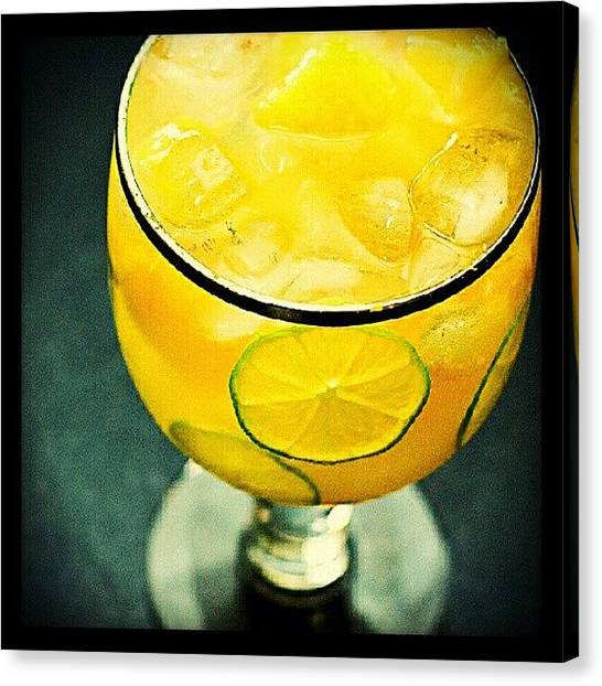 Liquor Canvas Print - Drink Of The Day...citrus Chiller by Mary Carter