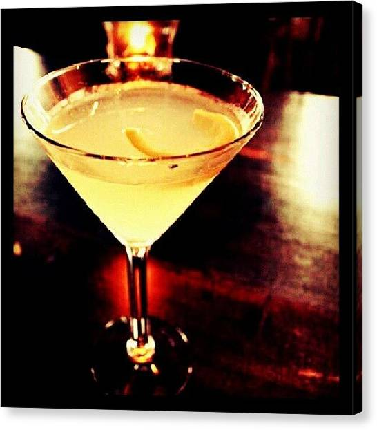 Vodka Canvas Print - Drink Of The Day...lemon Drop. #dotd by Mary Carter