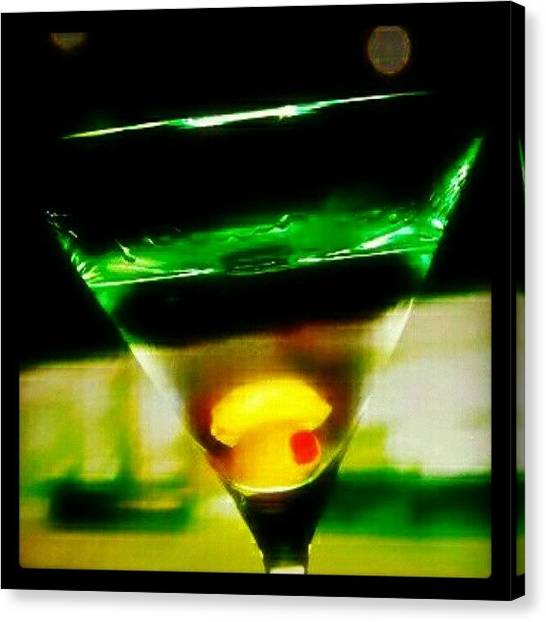 Vodka Canvas Print - Drink Of The Day...martini. #martini by Mary Carter