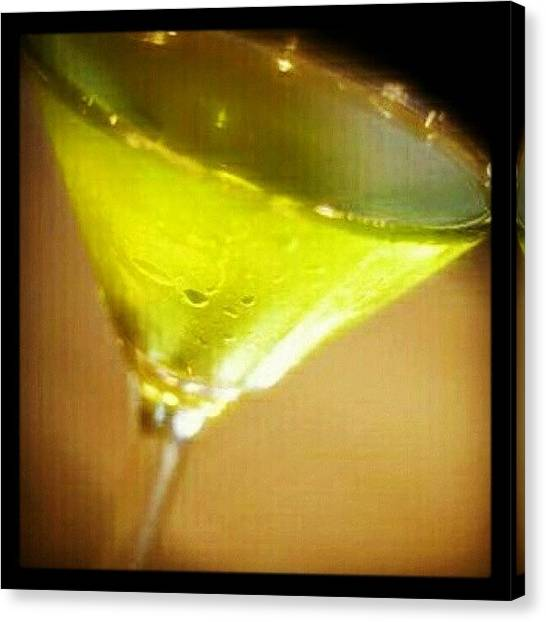 Liquor Canvas Print - Drink Of The Day...sour Apple Martini by Mary Carter