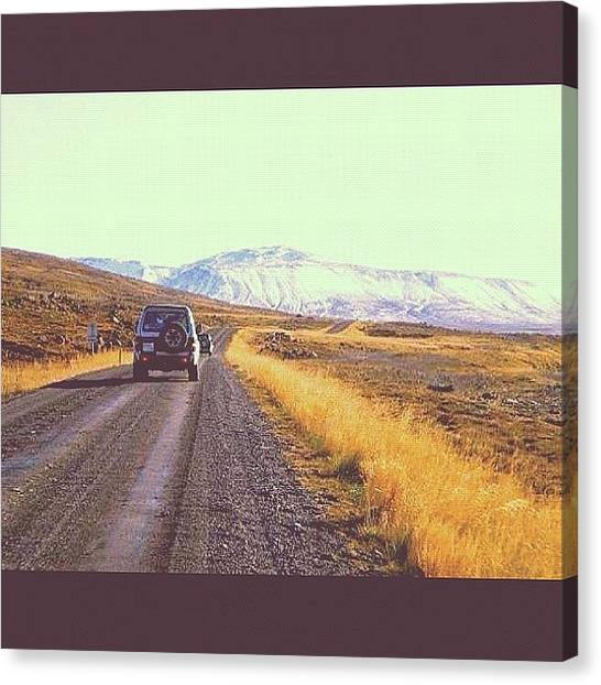 Offroading Canvas Print - #drinving A #4x4 Around #iceland by CarLos Alfonsoson
