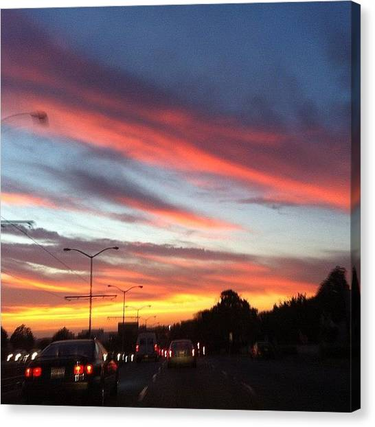 Irises Canvas Print - Driving Home #skyporn #colors #beauty by Iris  Malang