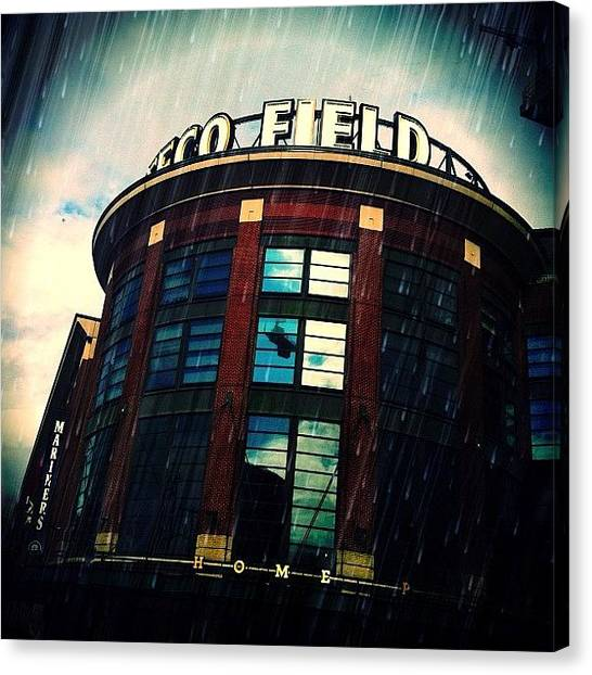 Seattle Mariners Canvas Print - Driving Through #seattle #mariners by Hunter Goodenow