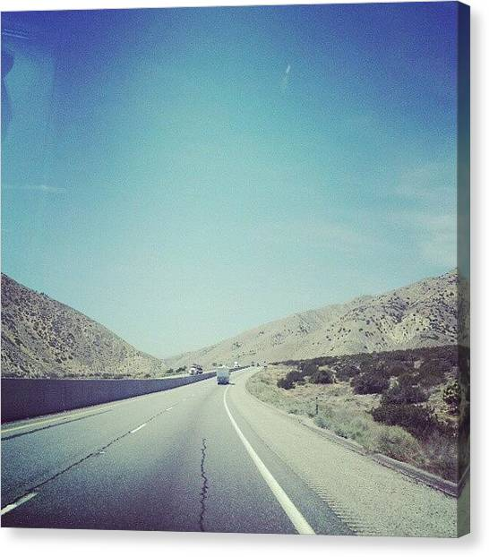 Shoulders Canvas Print - Driving Through The Desert by Janel Erikson