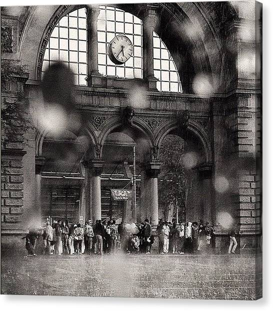 Swiss Canvas Print - Dropssssssssss... #rain#switzerland by Beda MoBe