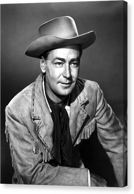 Drum Beat, Alan Ladd, 1954 Canvas Print by Everett