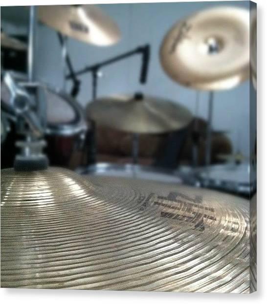 Jazz Canvas Print - #drums #music #zilgian #sabian #b8 #zht by Anthony Sclafani