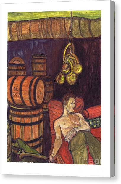 Drunken Arousal Canvas Print by Melinda English