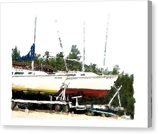 Dry Dock Canvas Print by Brenda Leedy
