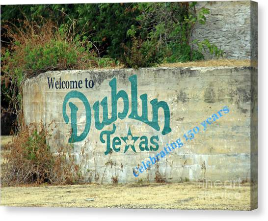 Dr. Pepper Canvas Print - Dublin Tx by Gayle Johnson