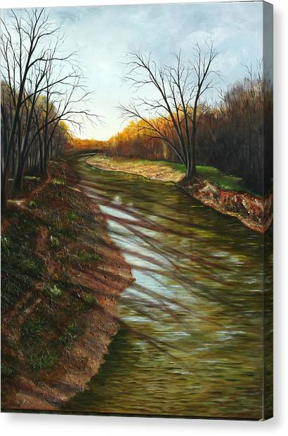 Duffins Creek Ajax Canvas Print by Sharon Steinhaus