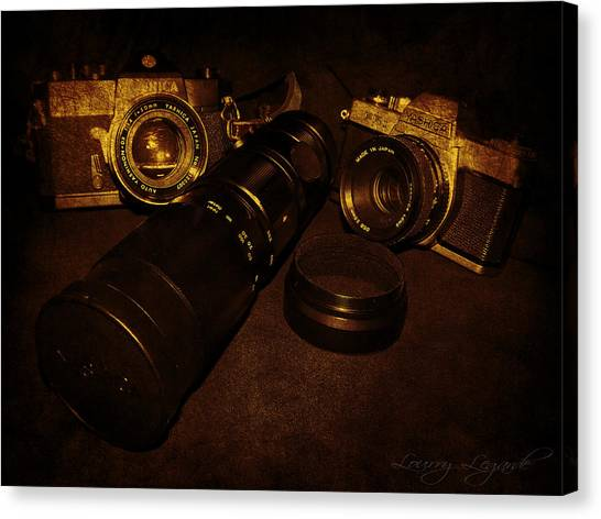 Vintage Camera Canvas Print - Dug Into The Past by Lourry Legarde