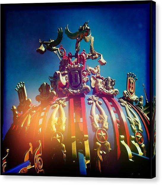 Storks Canvas Print - #dumbo #magickingdom #flyingelephant by James Roberts