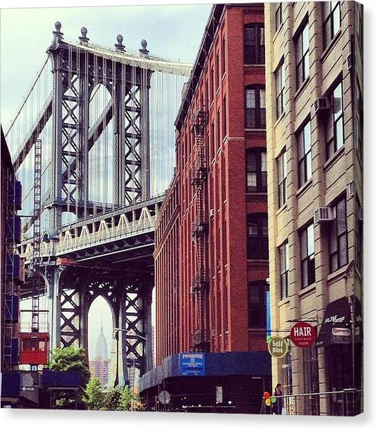 Nyc Canvas Print - Dumbo by Randy Lemoine
