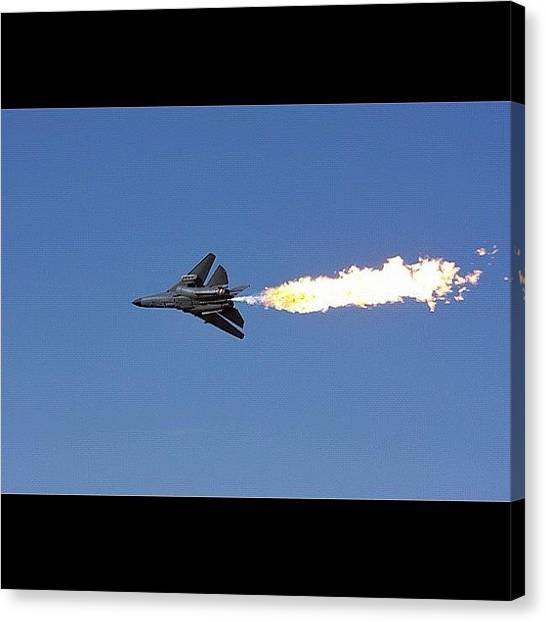 Australian Canvas Print - Dump & Burn F-111 #dumpandburn #f111 by Avril O