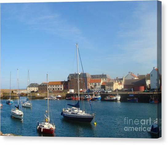Dunbar Harbour Canvas Print by Yvonne Johnstone