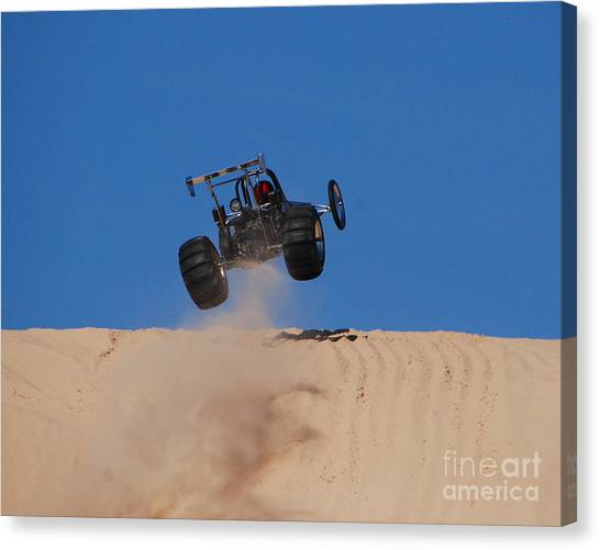 Dune Buggy Jump Canvas Print