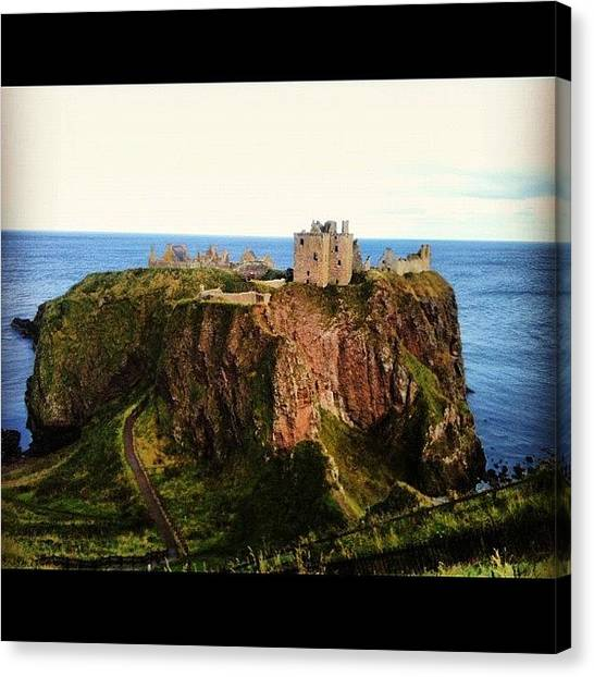 Falcons Canvas Print - Dunnottar Castle by Carles Falcon