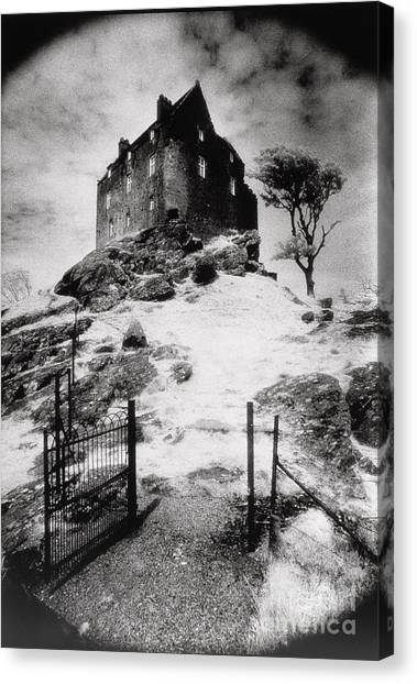 The Haunted House Canvas Print - Duntroon Castle by Simon Marsden