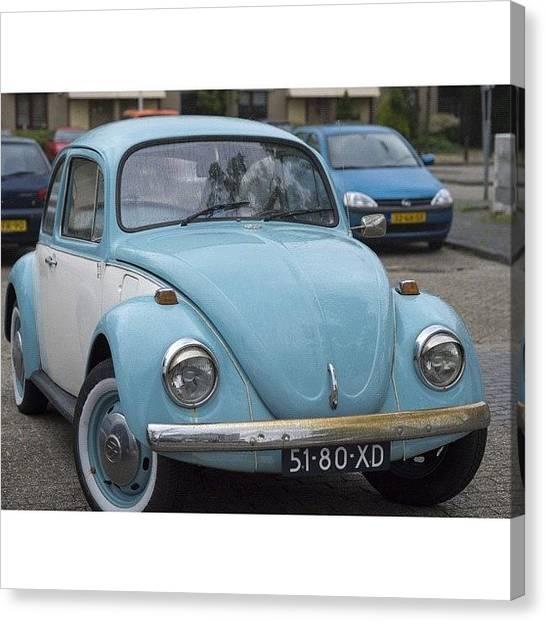Volkswagen Canvas Print - #duotone #vw #volkswagen #vintage by Andy Kleinmoedig