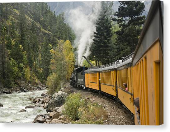 Durango-silverton Train - 1161 Canvas Print