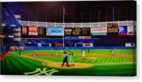 Seattle Mariners Canvas Print - Dwight Gooden's No No by T Kolendera