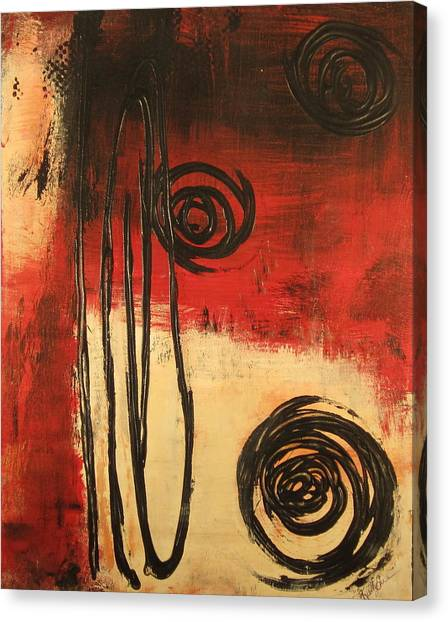 Dynamic Red 1 Canvas Print