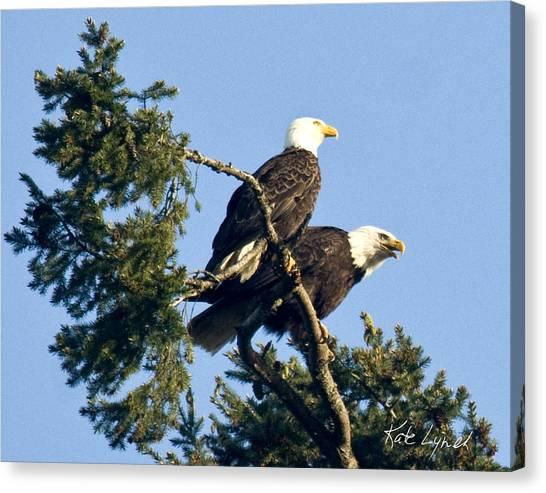 Eagle Conversation Canvas Print