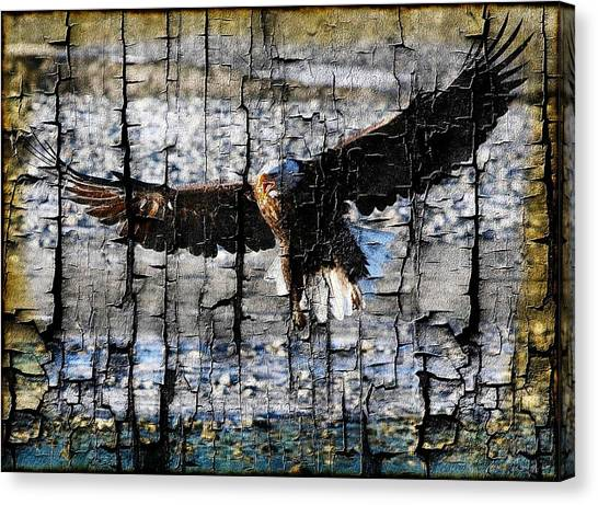 Eagle Imprint Canvas Print by Carrie OBrien Sibley