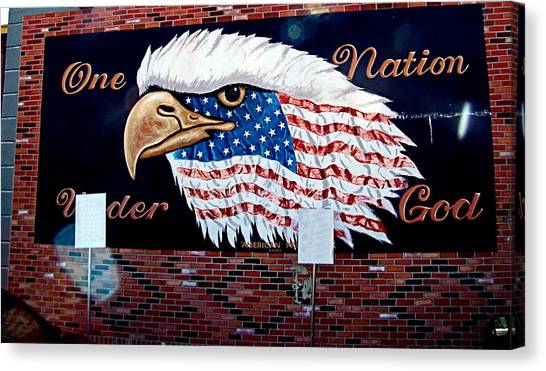 Eagle Mural Canvas Print by Nick Kloepping