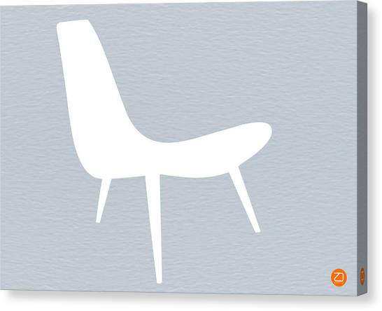 Mid Century Modern Canvas Print   Eames White Chair By Naxart Studio