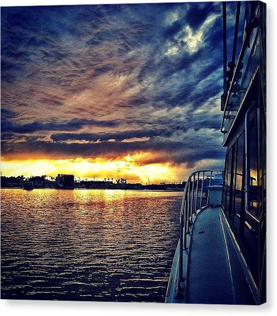 Yachts Canvas Print - Earlier Today, Shooting In Newport by Loghan Call