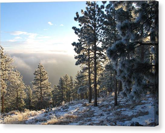 Early Am Above Boulder-photo Canvas Print