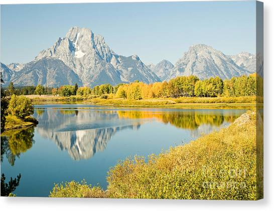 Early Autumn At Oxbow Bend Canvas Print