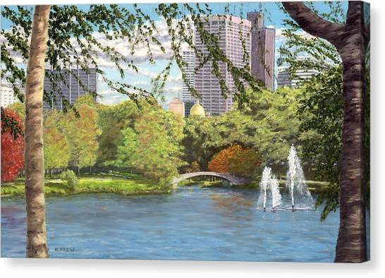 Early Color On Esplanade Canvas Print