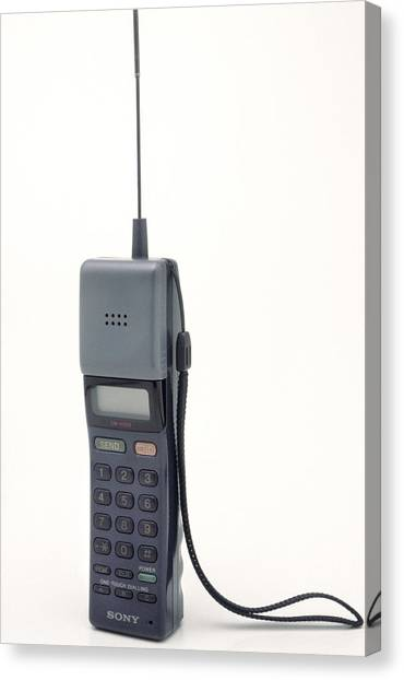 Early Mobile Phone Canvas Print by Victor De Schwanberg