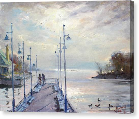 Ontario Canvas Print - Early Morning In Lake Shore by Ylli Haruni