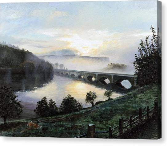 Peak District Canvas Print - Early Morning Mist by Trevor Neal