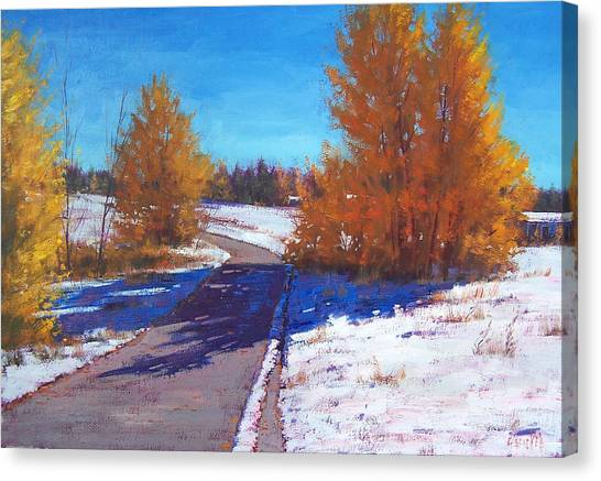 Frosty Canvas Print - Early Snow by Graham Gercken